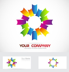 Colors corporate business logo vector