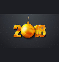 design of a new year black background 2018 with vector image