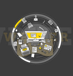 Detailed for promo poster - writers vector