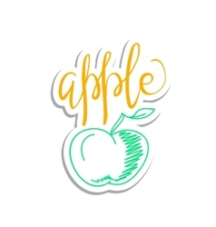 Eco friendly apple concept - design element vector