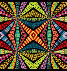 ethnic motifs kaleidoscope pattern vector image