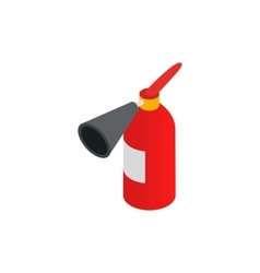 Fire extinguisher icon isometric 3d style vector