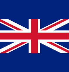Flag of united kingdom in national colors vector