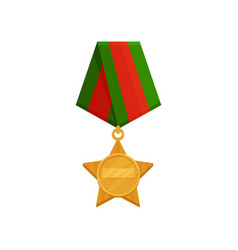 flat icon of star-shaped medal with bright vector image