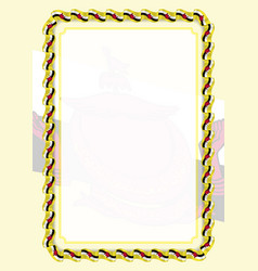 Frame and border of ribbon with brunei flag vector