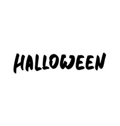 halloween text for greeting vector image
