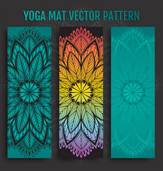 Hand drawn yoga mat pattern vector