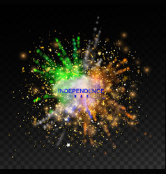 Independence day india 15 august powder colorful vector