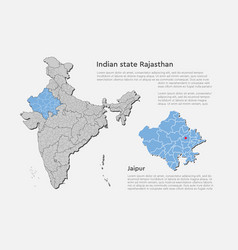 India map country state rajasthan template vector