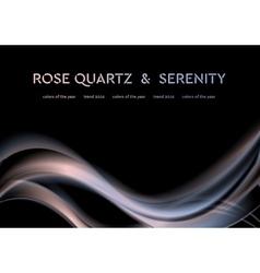Iridescent rose quartz and serenity wavy vector