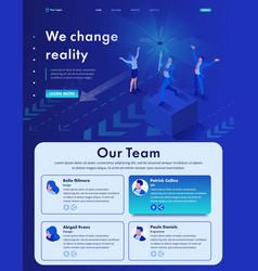 Isometric we change reality modern business vector