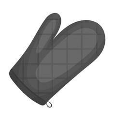 Kitchen glovebbq single icon in monochrome style vector
