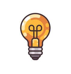 light bulb flat outline icon vector image
