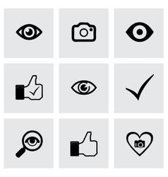 like icons set vector image
