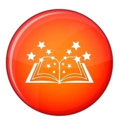 Magic book icon flat style vector image