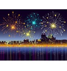 New Years Night City vector image