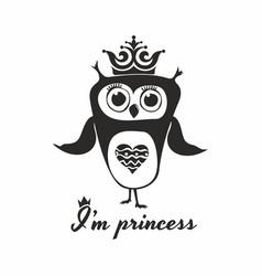 Owl princess vector