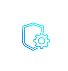 Privacy protection settings line icon vector