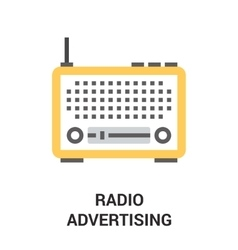 Radio advertising icon vector