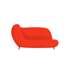 red couch living room or office interior vector image
