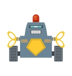 Robot with warning alert support vector