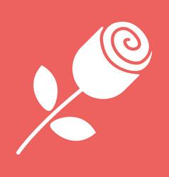 Rose button icon vector