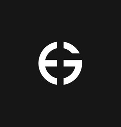 rounded letter e and g combined logo vector image