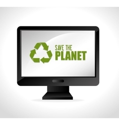 Save planet ecology vector