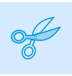 Scissors Icon Simple Blue vector image