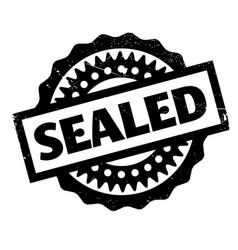 Sealed rubber stamp vector