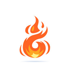 Simple flame icon in flat style vector