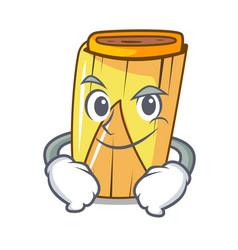 Smirking corn tamales shape on the cartoon vector