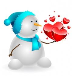 snowman final vector image