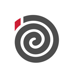 Spiral mosquito coil logo icon black and red vector