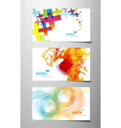 Splash gift cards vector
