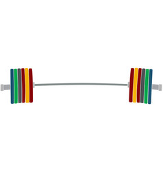 Sport barbell with plates vector