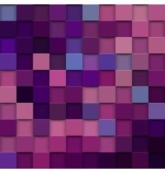 square mosaic 3d Vintage colorful texture vector image