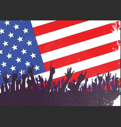 Stars and stripes audience vector
