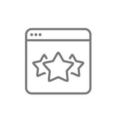 Stars in browser best choice website feedback vector