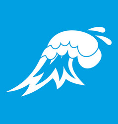Surf wave icon white vector