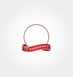 Template logo 75th anniversary with a circle vector