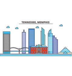 Tennessee memphiscity skyline architecture vector