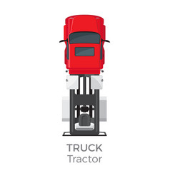 Truck tractor on red car service transport item vector