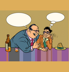 two male drunkards drink alcohol vector image