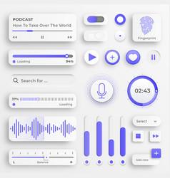user interface elements sliders for websites vector image