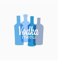 vodka bottle logo color banner on white vector image