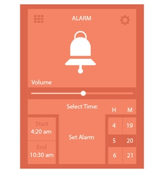 Web alarm vector