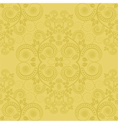 Yellow background with floral decoration vector