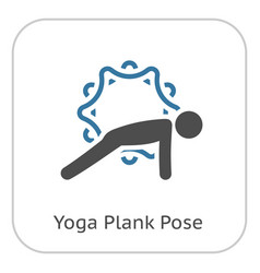 Yoga plank pose icon flat design isolated vector
