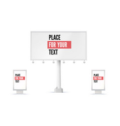 billboard and lightbox ad panel placeholder for vector image vector image